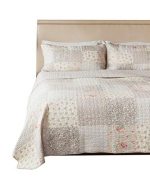 SLPR Walk In The Cotswolds 2 Piece Patchwork Cotton Bedding Quilt Set Twin With 1 Sham Summer Country Quilted Bedspread 0 300x360