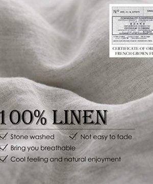 SimpleOpulence 100 Linen Duvet Cover Set 2pcs Stone Washed Natural French Flax Basic Style Solid Color Bedding With Button Closure Twin Linen 0 0 300x360