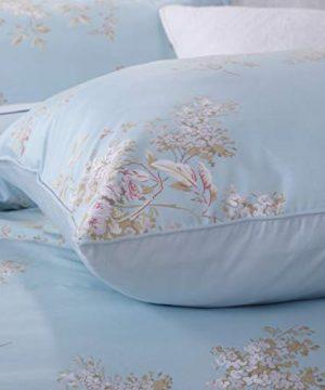 Softta Retro Chic Bohemia French Farmhouse Bedding Sets 3Pcs Twin Size Duvet Cover Sets 68 X 88 Inches Damask 100 Egyptian Long Staple Cotton Vintage Bauhinia Flower Baby Blue 0 1 300x360