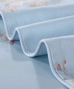 Softta Retro Chic Bohemia French Farmhouse Bedding Sets 3Pcs Twin Size Duvet Cover Sets 68 X 88 Inches Damask 100 Egyptian Long Staple Cotton Vintage Bauhinia Flower Baby Blue 0 3 300x360