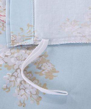 Softta Retro Chic Bohemia French Farmhouse Bedding Sets 3Pcs Twin Size Duvet Cover Sets 68 X 88 Inches Damask 100 Egyptian Long Staple Cotton Vintage Bauhinia Flower Baby Blue 0 5 300x360