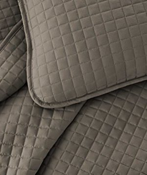 Southshore Fine Linens Vilano Springs Oversized 2 Piece Quilt Set TwinTwin XL Dark Taupe 0 0 300x358