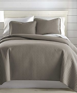 Southshore Fine Linens Vilano Springs Oversized 2 Piece Quilt Set TwinTwin XL Dark Taupe 0 1 300x360