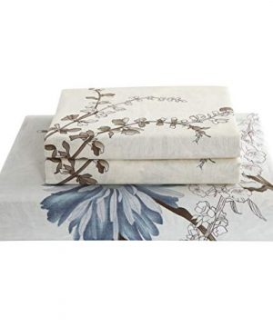 Swanson Beddings Daisy Silhouette Reversible Floral Print 2 Piece 100 Cotton Bedding Set Duvet Cover And One Pillow Sham Twin 0 3 300x360