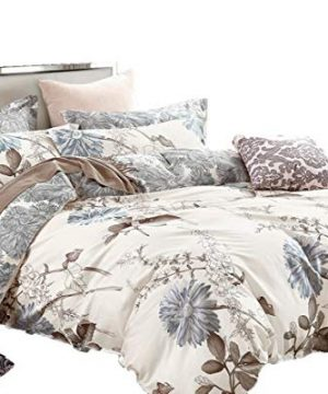 Swanson Beddings Daisy Silhouette Reversible Floral Print 2 Piece 100 Cotton Bedding Set Duvet Cover And One Pillow Sham Twin 0 300x360