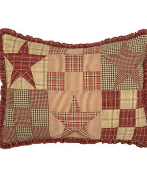 The BitLoom Co Primitive Country Star Patch Red Quilt Set 4 Piece Twin Red 0 2 300x360