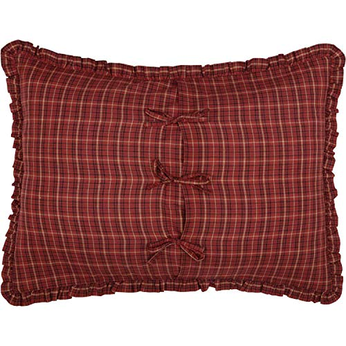 The BitLoom Co Primitive Country Star Patch Red Quilt Set 4 Piece Twin Red 0 3
