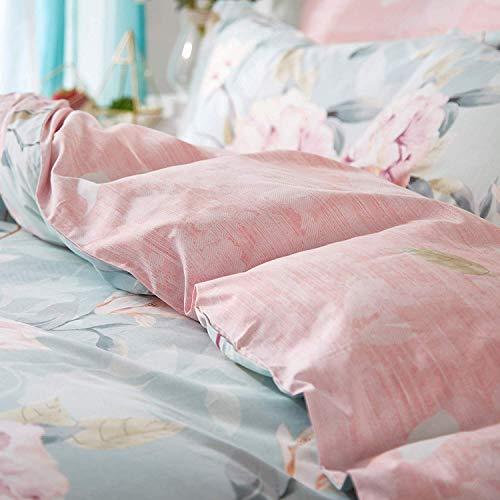 VClife Cotton Bedding Duvet Cover Sets Full Botanical Flower Branch Pattern Queen Comforter Quilt Cover Sets 1 Duvet Cover 2 Pillowcases Hypoallergenic Lightweight Hotel Luxury Soft 0 3