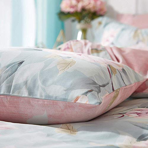 VClife Cotton Bedding Duvet Cover Sets Full Botanical Flower Branch Pattern Queen Comforter Quilt Cover Sets 1 Duvet Cover 2 Pillowcases Hypoallergenic Lightweight Hotel Luxury Soft 0 4