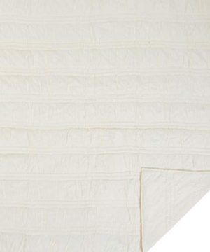 VHC Brands Natasha Quilted Bedspread Coverlet Farmhouse Soft Cotton 2 Piece Set Bedding Accessory Twin Ivory 0 0 300x360