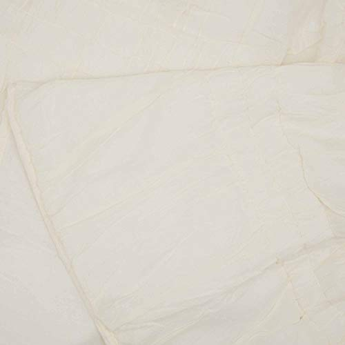 VHC Brands Natasha Quilted Bedspread Coverlet Farmhouse Soft Cotton 2 Piece Set Bedding Accessory Twin Ivory 0 2