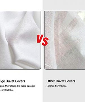 Vailge 3 Piece Pinch Pleated Duvet Cover With Zipper Closure 100 120gsm Microfiber Pintuck Duvet Cover Luxurious Hypoallergenic Pintuck Decorative WhiteTwin 0 0 300x360