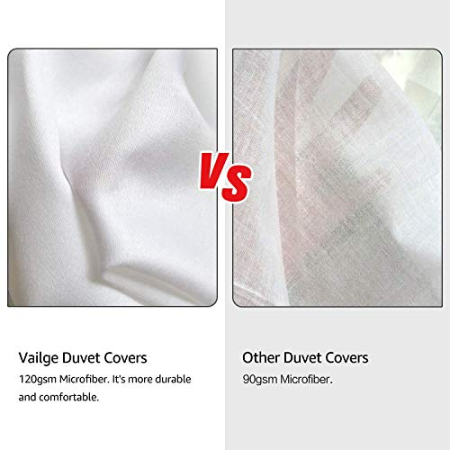 Vailge 3 Piece Pinch Pleated Duvet Cover With Zipper Closure 100 120gsm Microfiber Pintuck Duvet Cover Luxurious Hypoallergenic Pintuck Decorative WhiteTwin 0 0