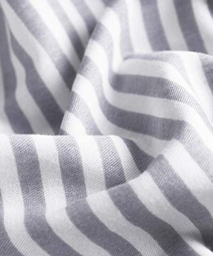 Wake In Cloud Gray White Striped Duvet Cover Set 100 Cotton Bedding Grey Vertical Ticking Stripes Pattern Printed On White With Zipper Closure 3pcs Full Size 0 2 300x360
