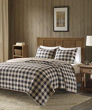 Woolrich Check Oversized Quilt Mini Set Tan FullQueen 0 0 300x360
