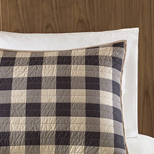 Woolrich Check Oversized Quilt Mini Set Tan FullQueen 0 2