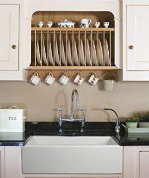 ZUHNE Ostia White Farmhouse Single Bowl Fireclay Kitchen Sink 33 Reversible Apron 0 300x360
