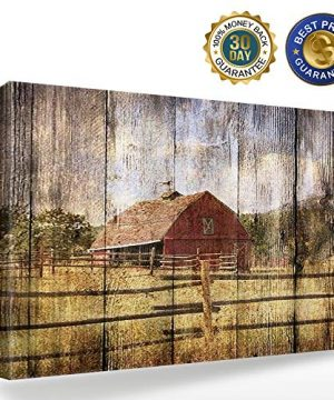 16x24in Canvas Wall Art Farmhouse Chalet Barn Wood HD Picture Oil Painting Vintage Artwork Decoration With Wood Frame Ready To Hang For Living RoomDining RoomBedroom 0 0 300x360