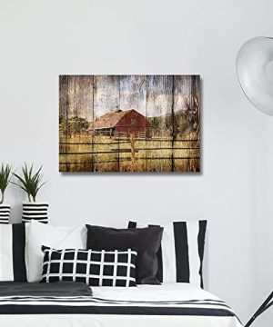 16x24in Canvas Wall Art Farmhouse Chalet Barn Wood HD Picture Oil Painting Vintage Artwork Decoration With Wood Frame Ready To Hang For Living RoomDining RoomBedroom 0 1 300x360