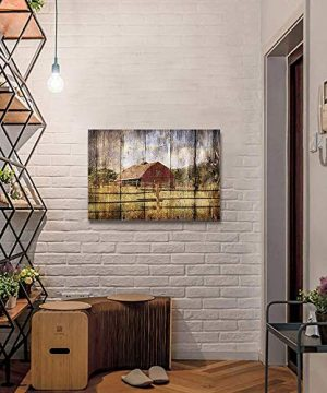 16x24in Canvas Wall Art Farmhouse Chalet Barn Wood HD Picture Oil Painting Vintage Artwork Decoration With Wood Frame Ready To Hang For Living RoomDining RoomBedroom 0 3 300x360