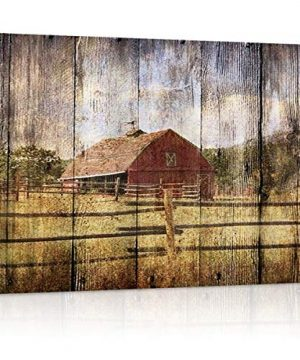16x24in Canvas Wall Art Farmhouse Chalet Barn Wood HD Picture Oil Painting Vintage Artwork Decoration With Wood Frame Ready To Hang For Living RoomDining RoomBedroom 0 300x360