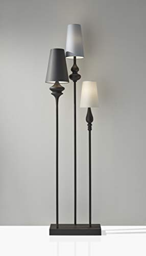 Adesso Home 3019 26 Transitional Three Light Floor Lamp From Jasmine Collection Dark Finish 700 Inches Antique Bronze 0 0