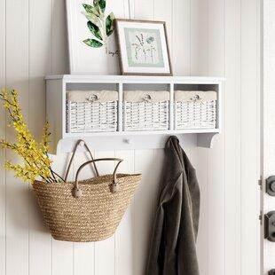 Amias+Floating+Storage+Shelf+Wall+Mounted+Coat+Rack