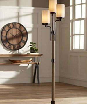 Astoria Rustic Farmhouse Floor Lamp 3 Light Tree Bronze Faux Wood Faux Tea Alabaster Glass For Living Room Reading Bedroom Office Uplight Franklin Iron Works 0 300x360