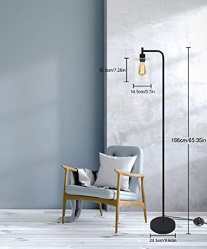 Black LED Floor Lamp Acaxin Standing Lamp With Hanging Glass Lamp Shade Industrial Light With Halogen Bulb For Living Room Bedroom 0 0 300x360