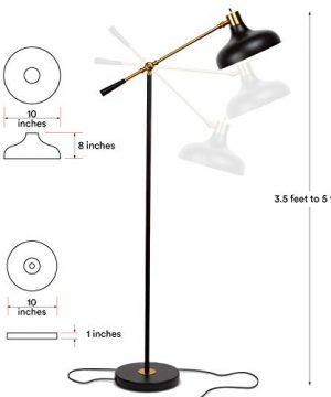 Brightech Wyatt Industrial Floor Lamp For Living Rooms Bedrooms Rustic Farmhouse Reading Lamp Standing Adjustable Arm Indoor Pole Lamp For Crafts Tasks 0 0 300x360