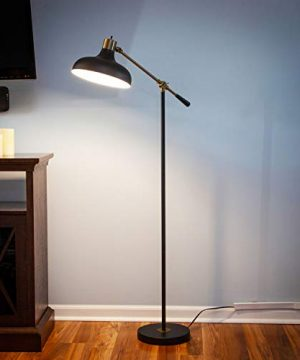 Brightech Wyatt Industrial Floor Lamp For Living Rooms Bedrooms Rustic Farmhouse Reading Lamp Standing Adjustable Arm Indoor Pole Lamp For Crafts Tasks 0 2 300x360