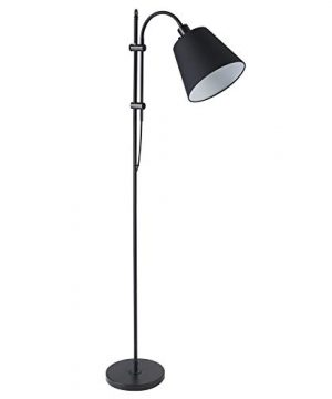 CO Z Floor Task Lamp With Gooseneck Adjustable Rustic Standing Reading Lamps With Black Fabric Shade 64 Modern Floor Lamp For Living Room Bedroom Reading Office Farmhouse UL 0 300x360