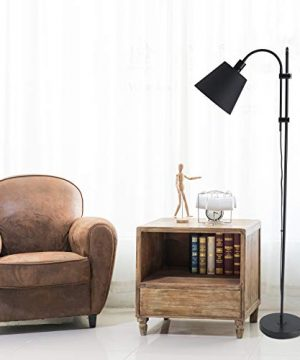 CO Z Floor Task Lamp With Gooseneck Adjustable Rustic Standing Reading Lamps With Black Fabric Shade 64 Modern Floor Lamp For Living Room Bedroom Reading Office Farmhouse UL 0 4 300x360
