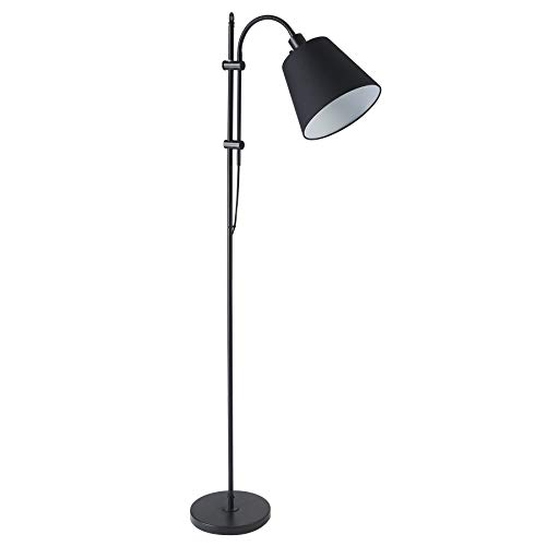 CO Z Floor Task Lamp With Gooseneck Adjustable Rustic Standing Reading Lamps With Black Fabric Shade 64 Modern Floor Lamp For Living Room Bedroom Reading Office Farmhouse UL 0
