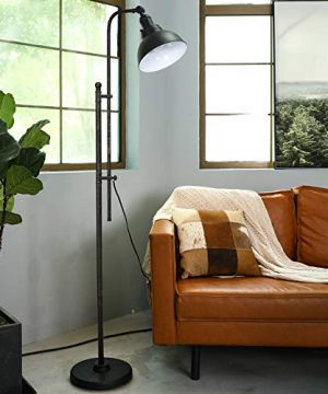 CO Z Industrial Floor Lamp Adjustable 65 Inches Rustic Floor Task Lamp In Aged Bronze Finish Standing Lamp With Metal Shade For Living Room Reading Bedroom Office ETL 0 0 300x360