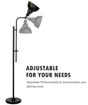 CO Z Industrial Floor Lamp Adjustable 65 Inches Rustic Floor Task Lamp In Aged Bronze Finish Standing Lamp With Metal Shade For Living Room Reading Bedroom Office ETL 0 2 300x360
