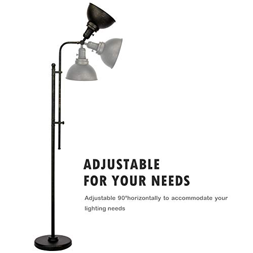 CO Z Industrial Floor Lamp Adjustable 65 Inches Rustic Floor Task Lamp In Aged Bronze Finish Standing Lamp With Metal Shade For Living Room Reading Bedroom Office ETL 0 2