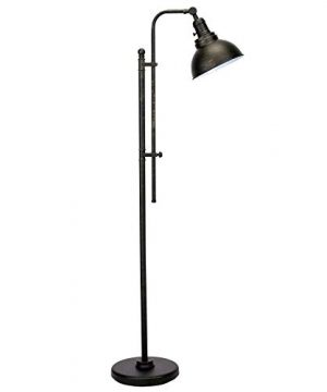 CO Z Industrial Floor Lamp Adjustable 65 Inches Rustic Floor Task Lamp In Aged Bronze Finish Standing Lamp With Metal Shade For Living Room Reading Bedroom Office ETL 0 300x360