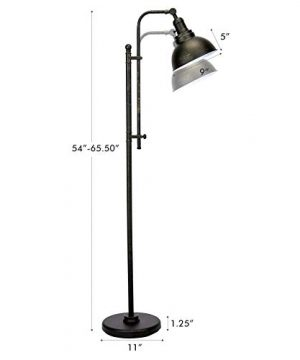 CO Z Industrial Floor Lamp Adjustable 65 Inches Rustic Floor Task Lamp In Aged Bronze Finish Standing Lamp With Metal Shade For Living Room Reading Bedroom Office ETL 0 4 300x360