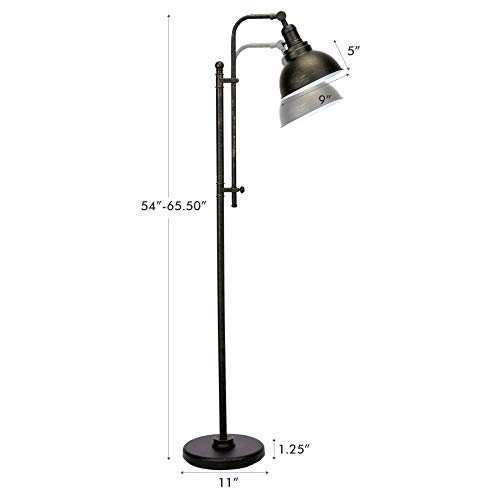 CO Z Industrial Floor Lamp Adjustable 65 Inches Rustic Floor Task Lamp In Aged Bronze Finish Standing Lamp With Metal Shade For Living Room Reading Bedroom Office ETL 0 4