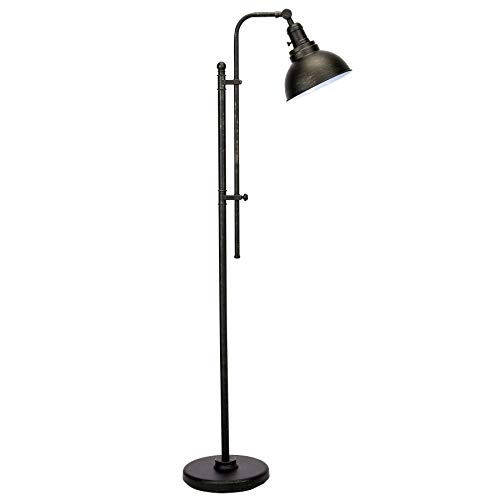 CO Z Industrial Floor Lamp Adjustable 65 Inches Rustic Floor Task Lamp In Aged Bronze Finish Standing Lamp With Metal Shade For Living Room Reading Bedroom Office ETL 0