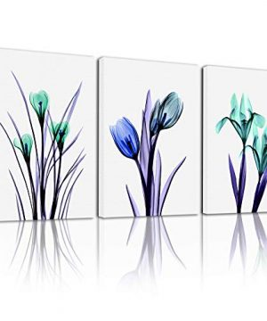 Canvas Wall Art For Bedroom Wall Decorations For Living Room Kitchen Wall Decor Green Plants Canvas Art Hang Pictures Flower Painting Bathroom Home Decoration 3 Piece Family Dining Room Wall Artworks 0 300x360