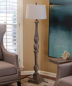 Decor Therapy PL3734 Floor Lamp Warm Grey 0 300x360