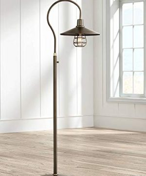 Garryton Industrial Floor Lamp Oiled Rubbed Bronze Metal Cage Barn Light Shade For Living Room Reading Bedroom Office Franklin Iron Works 0 300x360