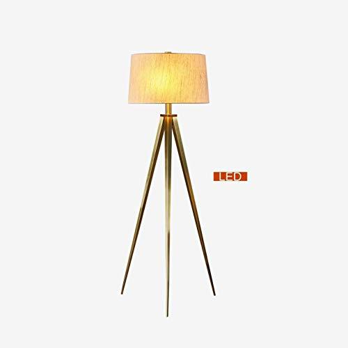Hollywood Led Tripod Floor Lamp 63 Antique Satin Brass Clear Mid Century Modern Bulbs Included 0 0