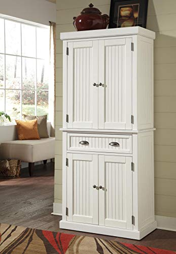 Home Styles Nantucket Pantry White Distressed Finish 0 0