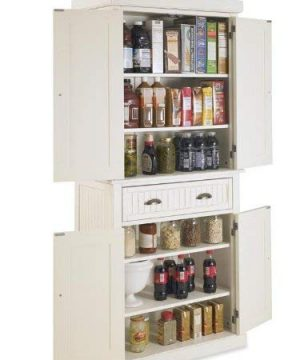 Home Styles Nantucket Pantry White Distressed Finish 0 1 300x360