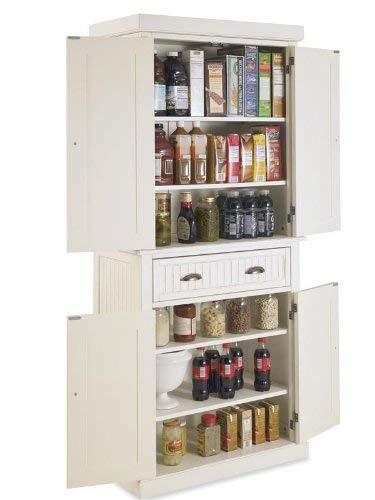 Home Styles Nantucket Pantry White Distressed Finish 0 1