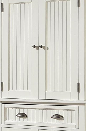 Home Styles Nantucket Pantry White Distressed Finish 0 2