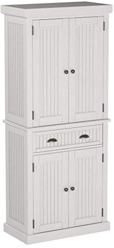 Home Styles Nantucket Pantry White Distressed Finish 0